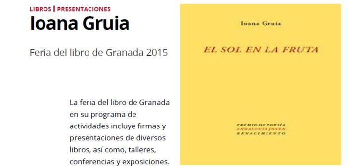 Granada, Presentación: El sol en la fruta / Le soleil sur le fruit (Edición bilingüe)