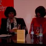 con Ángeles Mora, Granada, 2012