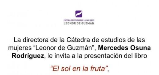 Córdoba, Presentación del libroEl sol en la frutay lectura poética
