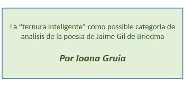 """""""La «ternura inteligente» como posible categoría de análisis de la poesía de Jaime Gil de Biedma"""""""