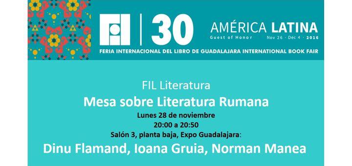 Feria Internacional del Libro de GUADALAJARA Mexico - Mesa sobre la Literatura Rumana
