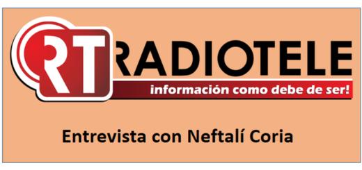 """eventos 52 foto Entrevista con Neftalí Coria en el programa """"De palabra en palabra"""" de la televisión mexicana Radiotele."""