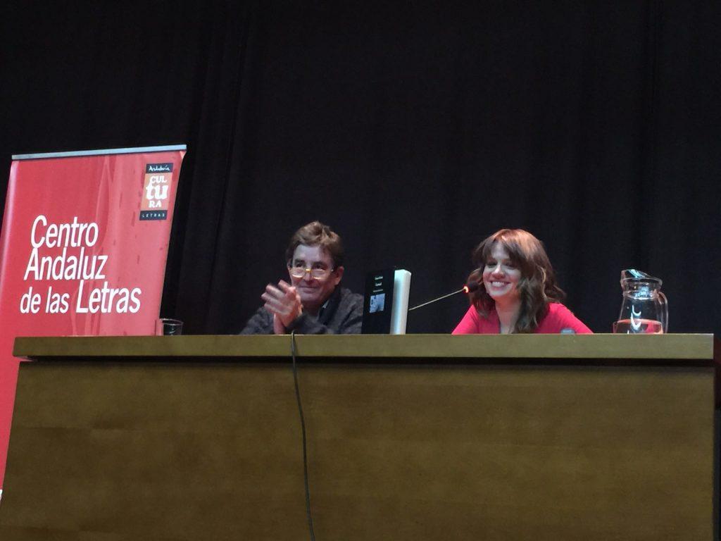 Con Luis García Montero en la presentación de Carrusel en Granda_2016