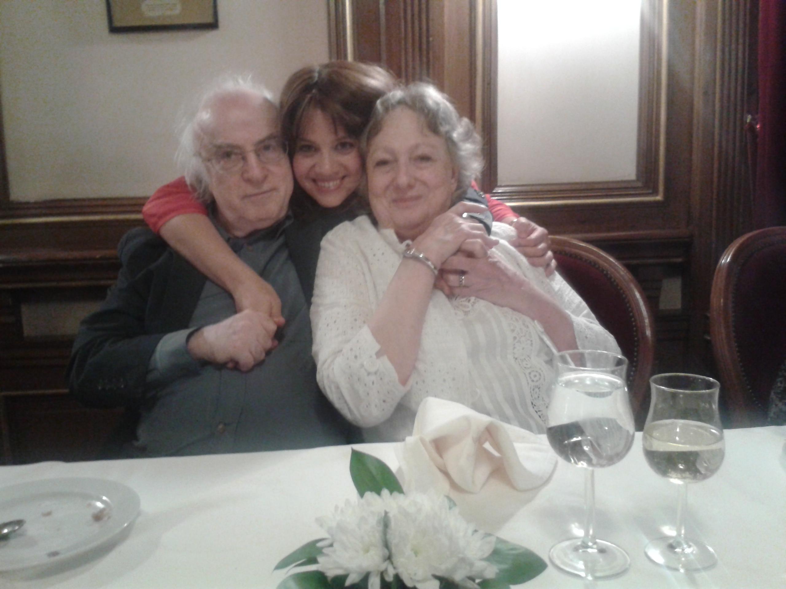 con Norman Manea y Cella Manea