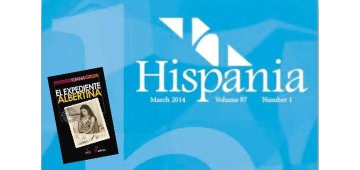 Reseña de El expediente Albertina en la revista Hispania
